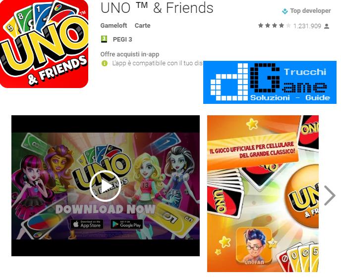 Trucchi  UNO & Friends Mod Apk Android v3.1.0h