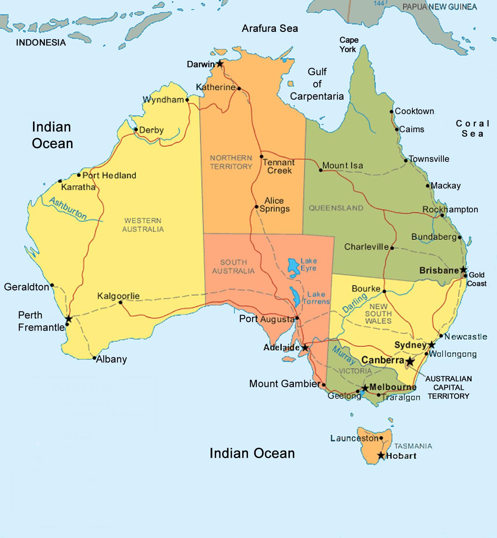 Haunted Places In Ipswich Qld: Carte De Australie Departement Région