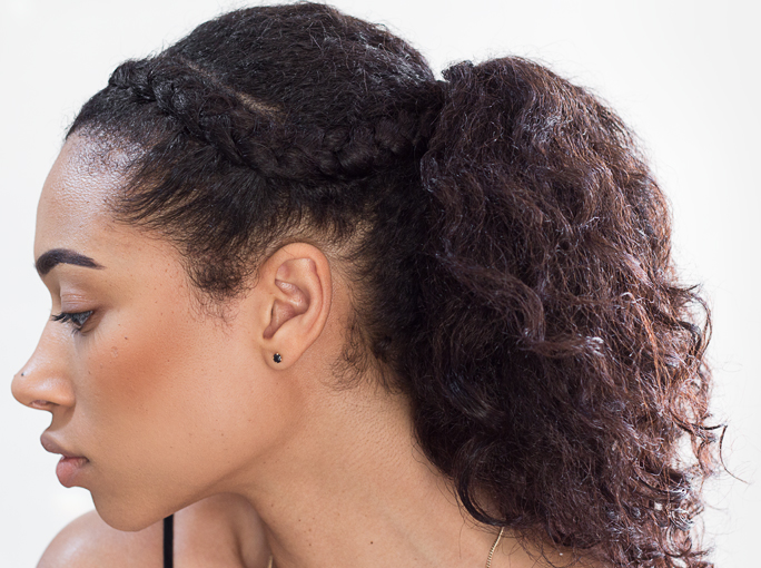 Enjoyable Fresh Lengths Hotd Twist Out Ponytail With Braided Front Short Hairstyles Gunalazisus