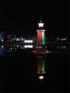 Christmas Lighthouse.