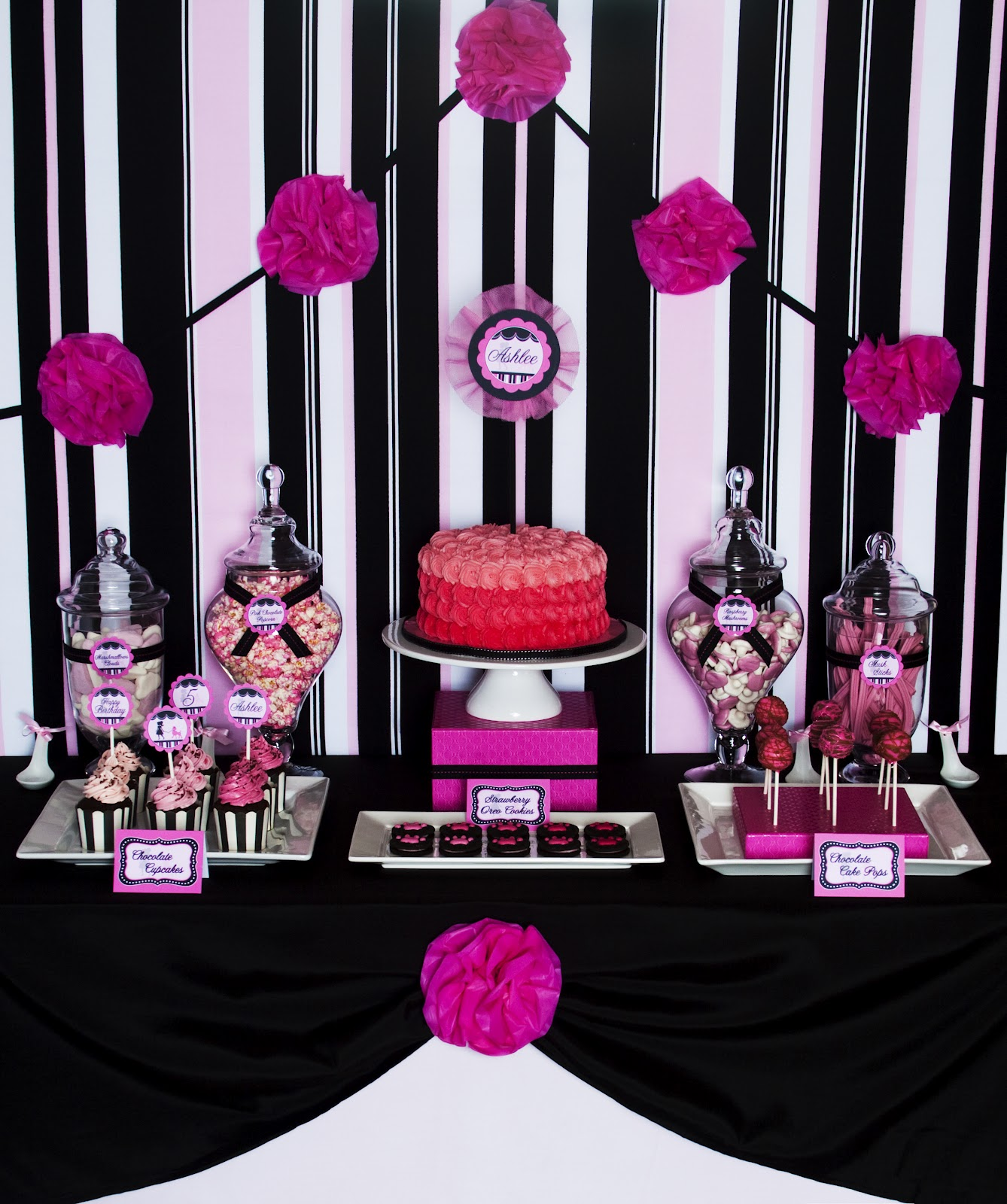 Ashlee Rae Designs Ashlees Pink Poodle Party