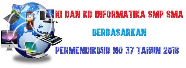 KI dan KD Informatika SMP SMA