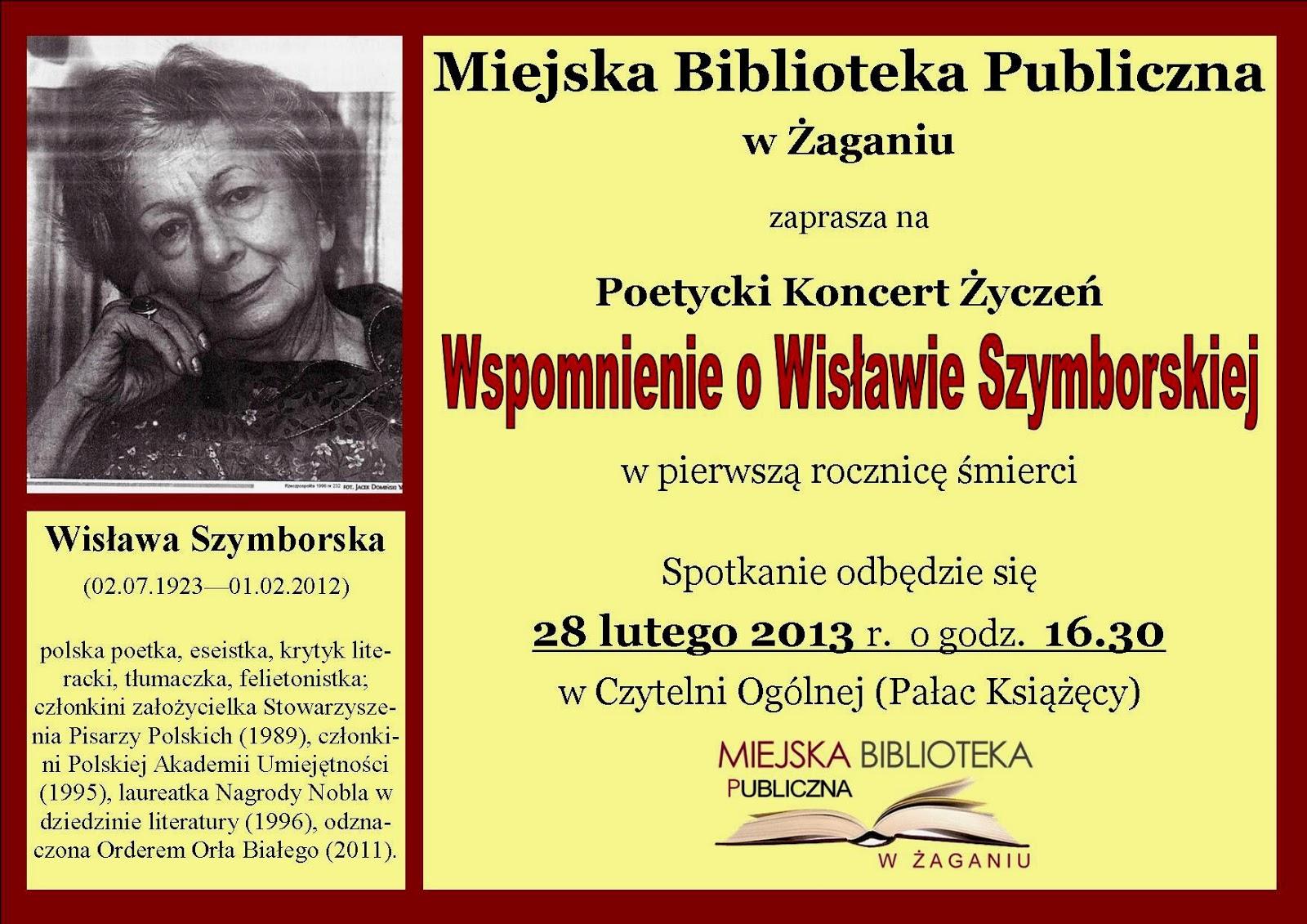 Miejska Biblioteka Publiczna Im Papuszy W żaganiu Poetycki
