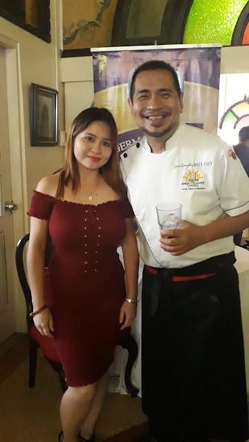food blogger with Chef Gene Gonzalez