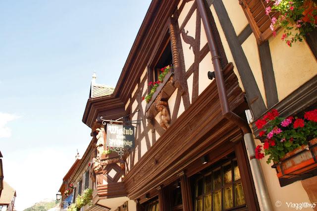 La Casa dei Pifferai di Ribeauvillé ora locanda
