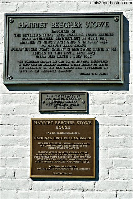 Placas Casa Museo de Harriet Beecher Stowe en Hartford, Connecticut