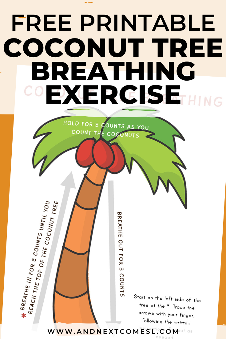 Chicka Chicka Boom Boom inspired deep breathing exercise for kids with free printable mindfulness poster