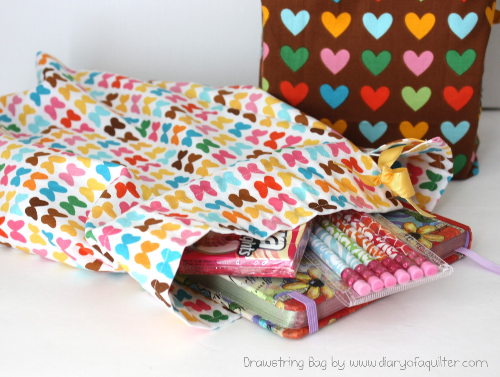 Diy Fat Quarter Projects Easy Fat Quarter Drawstring Bag Tutorial Diary Of A