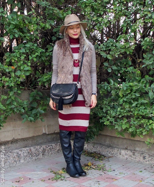 Stripes | Camel and Burgundy