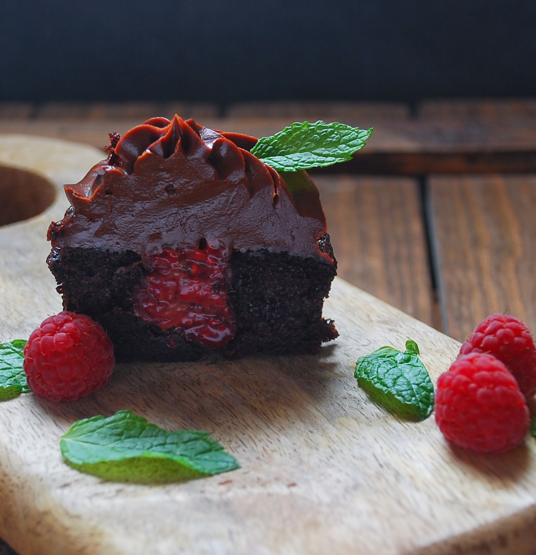 Los mejores cupcakes de chocolate y frambuesa
