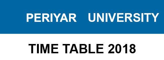 Periyar University Date Sheet 2018 19 Periyaruniversityacin Exam