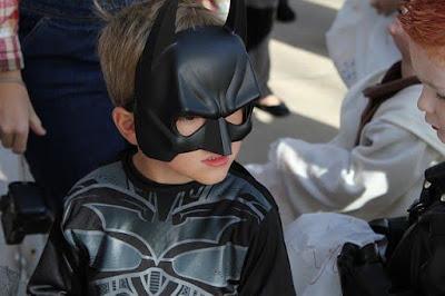 boy in a Batman costume