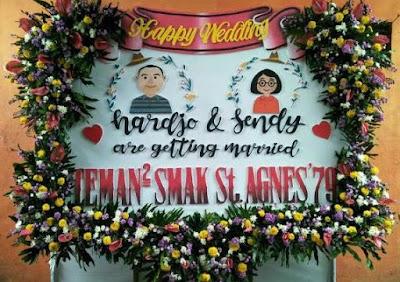 toko papan bunga pernikahan sidoarjo
