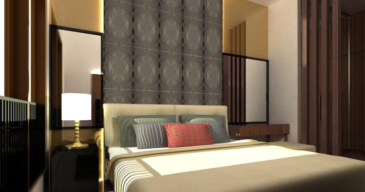 Desain Interior Kamar Tidur Utama 4x3  dekorasi kamar tidur 4x3