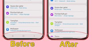Cara Mengubah Tombol Navigasi Android Menjadi Iphone Di HP Samsung Tanpa Aplikasi