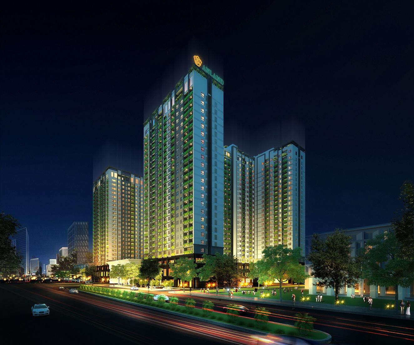 Phối cảnh dự án chung cư Anland Complex Nam Cường