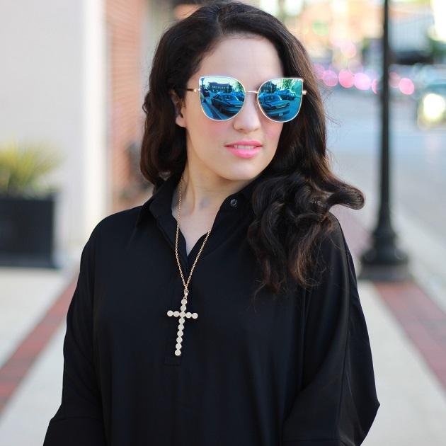 Kate Lux Black Shirt Dress