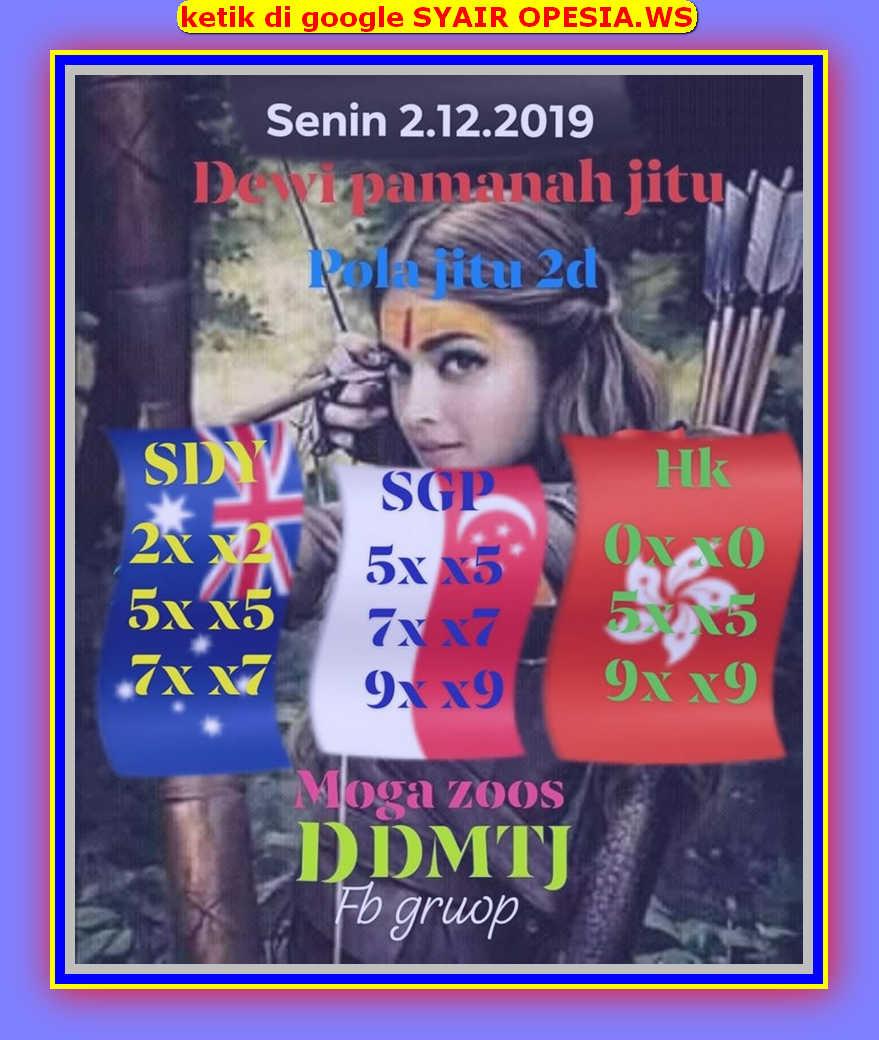 Kode syair Singapore Senin 2 Desember 2019 10