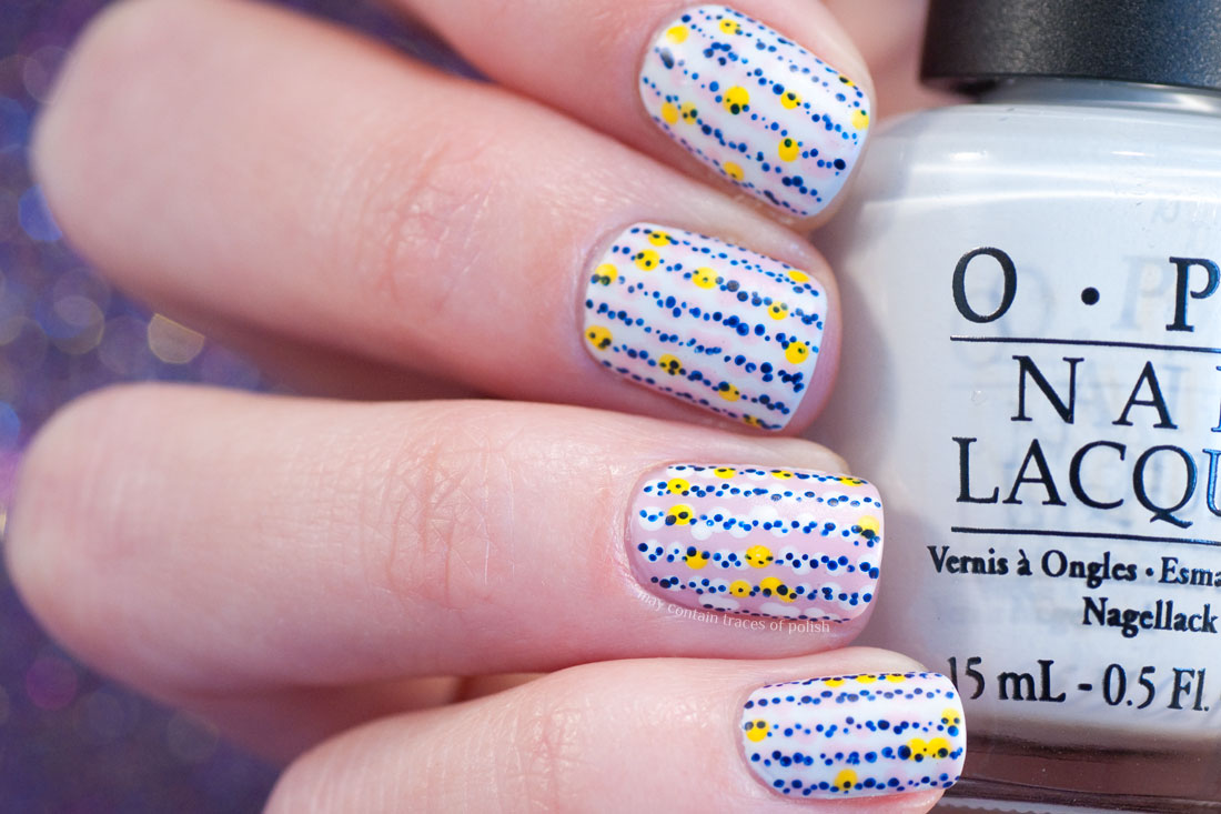 Whimsical Summer Dots Nail Art