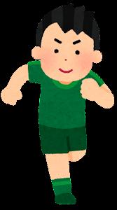 走る人たちのイラスト(スポーツ・男性1)