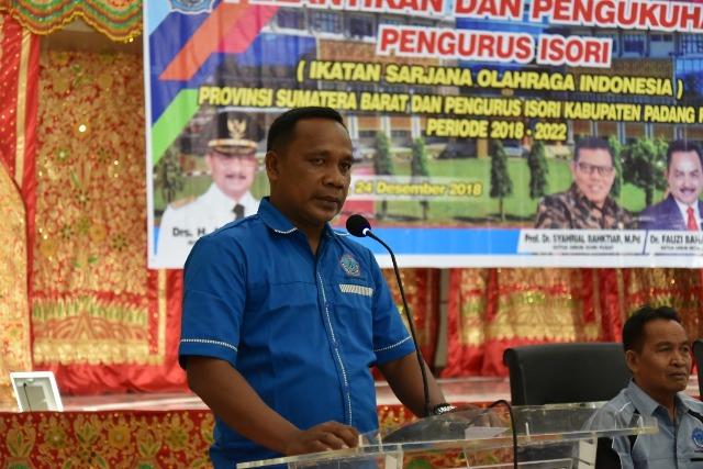 Ketua KONI Aprinaldi Pimpin ISORI Padang Pariaman