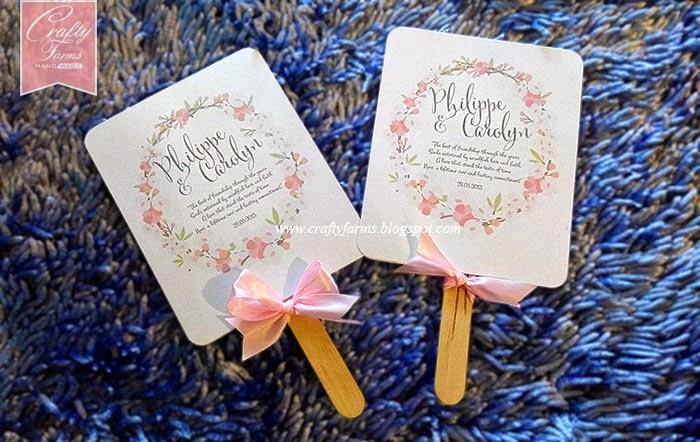 Wedding Card Malaysia Crafty Farms Handmade Pink