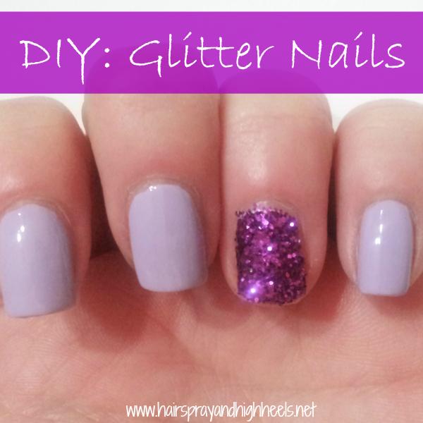 DIY Glitter Nails