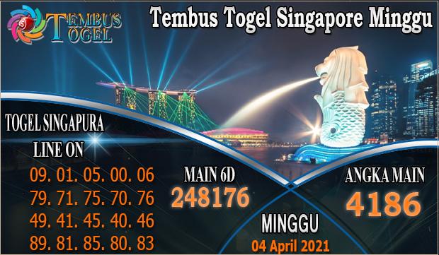 Tembus Togel Singapore Minggu - Minggu Tanggal 04 April 2021