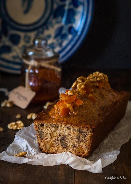 Cake de nueces y naranja confitada