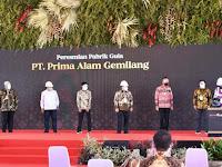 Presiden Jokowi Resmikan Pabrik Gula di BombanaPresiden Jokowi Resmikan Pabrik Gula di Bombana