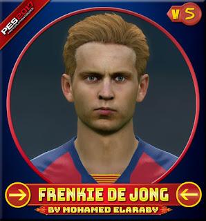 PES 2017 Faces Frenkie de Jong by M.Elaraby