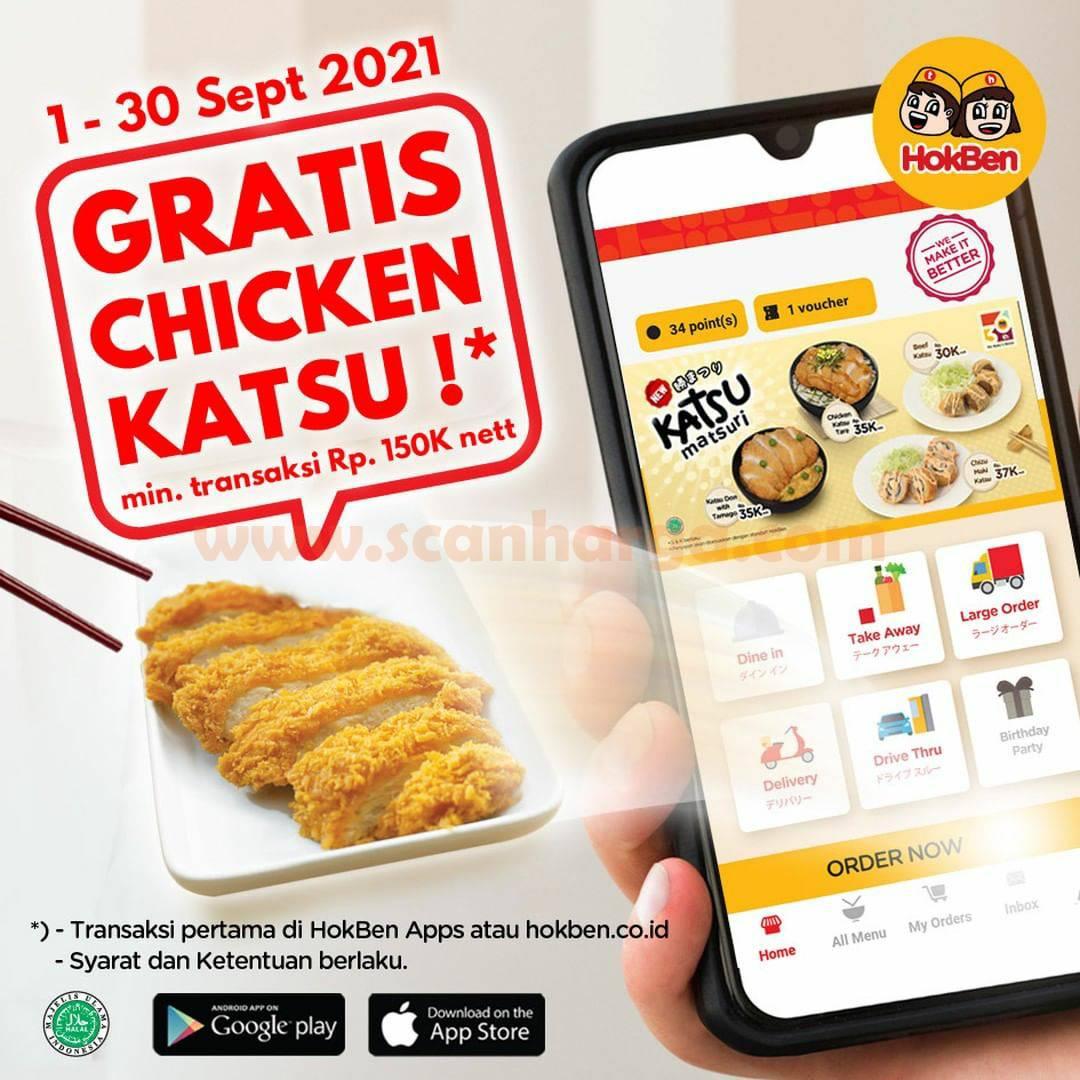HOKBEN Promo Gratis Chicken Katsu khusus pemesanan via App