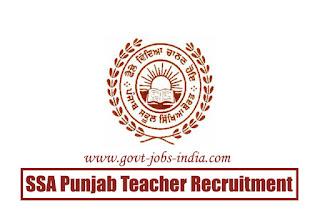 SSA Punjab Teacher Recruitment 2020