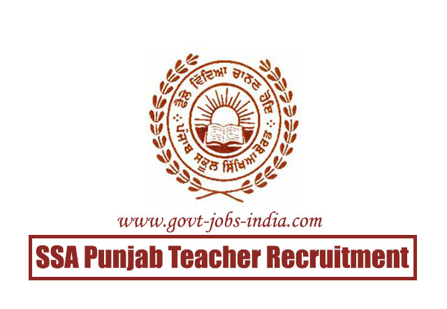 SSA Punjab Teacher Recruitment 2020 – 2102 Master Cadre Teachers Vacancy – Last Date 31 March 2020