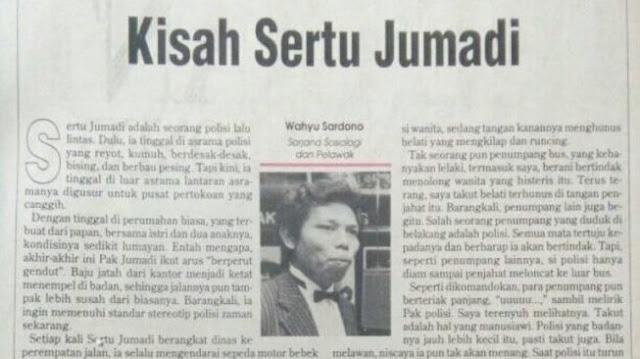 Tulisan Kritik Dono Warkop DKI Buat Polisi Kembali Viral, Ini Isinya...
