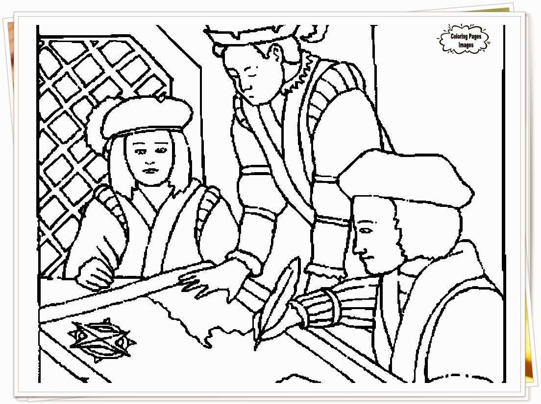 Christopher Columbus Day Coloring Pages