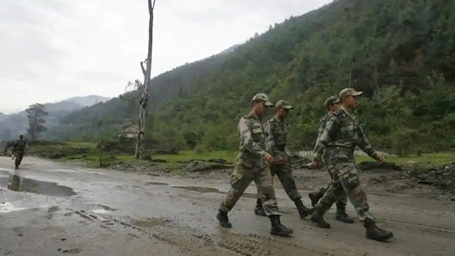 Indian Army marching in north east