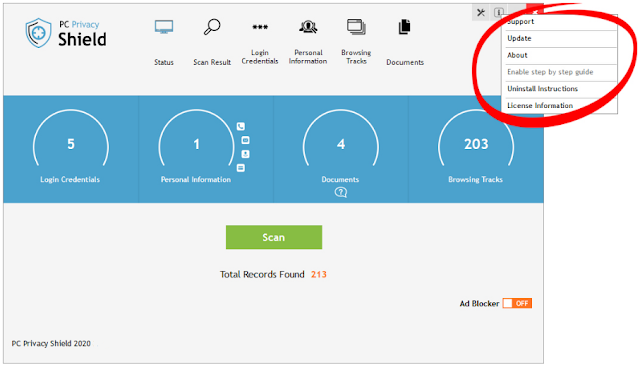 Screenshot PC Privacy Shield 2020 v4.4.0 Full Version