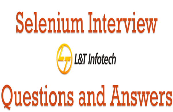 L&T Infotech Selenium Webdriver Interview Questions
