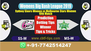 Who will win Today, WBBL T20 2019, 10th Match SS-W vs MS-W