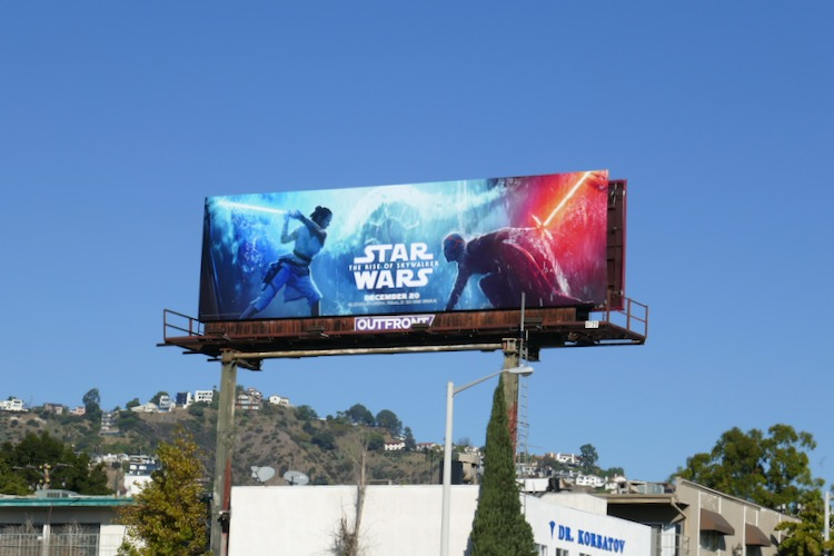 Star Wars Rise Skywalker billboard