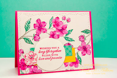 I have a super cute and easy wedding card to share and a little Color Inspiration for you this week. Click here to learn more