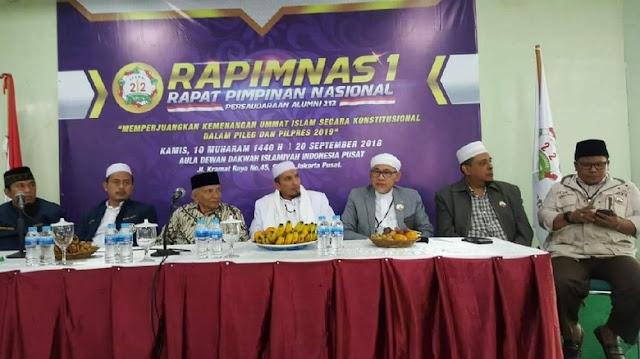 PA 212 Gelar Rapimnas Bahas Pemenangan Prabowo-Sandi