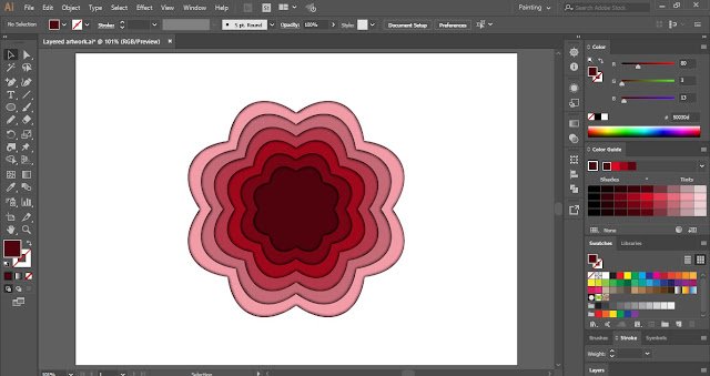 Layered Artwork in Adobe Illustrator