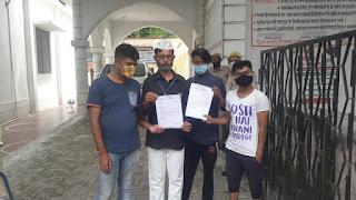 भाजपा जिलाध्यक्ष पर भूमि कब्जा करने का आरोप, आम आदमी पार्टी ने डीएम को सौंपा ज्ञापन | #NayaSaveraNetwork
