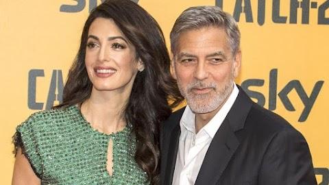 Fülig érő szájjal romantikáztak George Clooneyék
