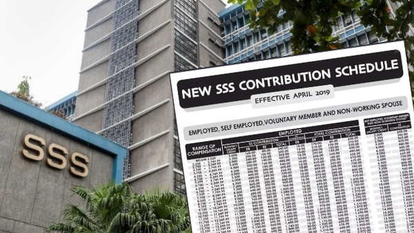 SSS updated table of contributions effective April 1, 2019