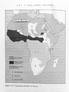 Page 382. Figure 19.2. Language families of Africa.