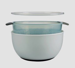 Space Saving Large 3 Piece Bowl and Colander Set