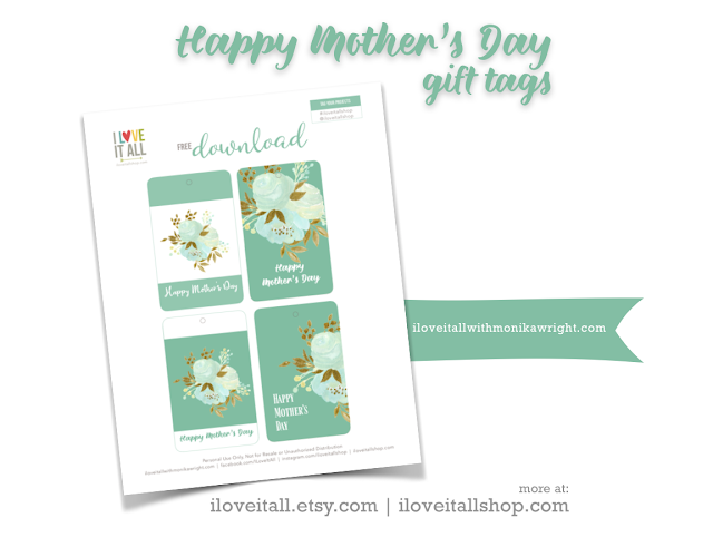 #Happy Mother's Day #Mother's Day #Mom #printable #gift tags #Mother's Day Gift Tags #instant download #free